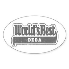 WB Grandpa [Serbian] Oval Decal