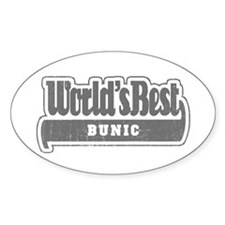 WB Grandpa [Romanian] Oval Decal