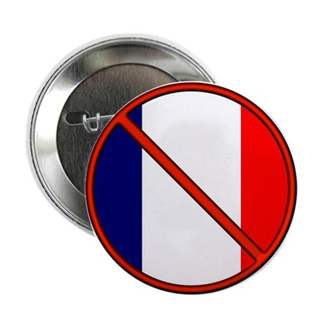 "Anti France 2.25"" Button (100 pack)"