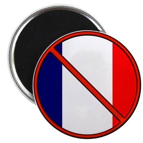 "Anti France 2.25"" Magnet (10 pack)"