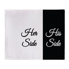 Her Side/His Side Throw Blanket