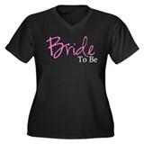 Bride To Be (Pink Script) Women's Plus Size V-Neck