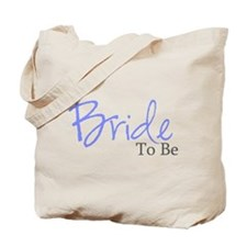 Bride To Be (Blue Script) Tote Bag