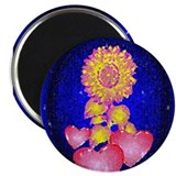 "Hearts & Flower2.25"" Magnet (10 pack)"