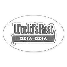 WB Grandpa [Polish] Oval Decal