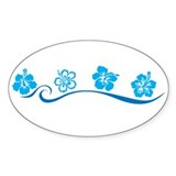 Flower Beach Oval Decal