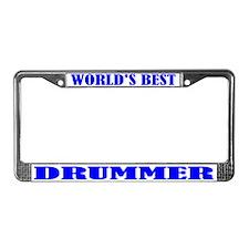 Drummer License Plate Frame