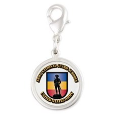 SSI - Army National Guard Scho Silver Round Charm