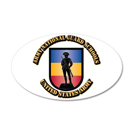 SSI - Army National Guard Sc 35x21 Oval Wall Decal