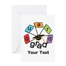 Customize Guard Grad Flags Greeting Card