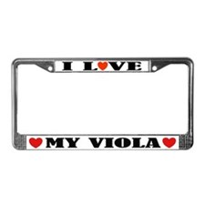I Love My Viola License Plate Frame