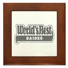 WB Grandpa [Irish Gaelic] Framed Tile