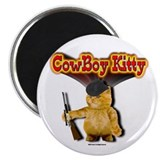 "2.25"" Magnet (10 pack) CowBoy Kitty 3D SunBurst"