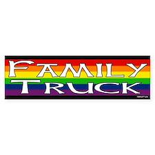 Family Truck Gay Pride Bumper Bumper Sticker