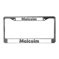 Malcolm Metal License Plate Frame
