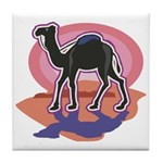 Colorful Camel Design Tile Coaster
