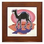 Colorful Camel Design Framed Tile