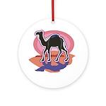 Colorful Camel Design Ornament (Round)