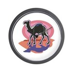 Colorful Camel Design Wall Clock