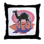 Colorful Camel Design Throw Pillow