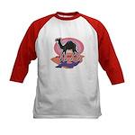 Colorful Camel Design Kids Baseball Jersey