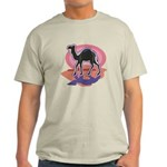 Colorful Camel Design Light T-Shirt