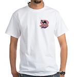 Colorful Camel Design White T-Shirt