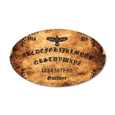 Celtic Raven Ouija Board 35x21 Oval Wall Decal