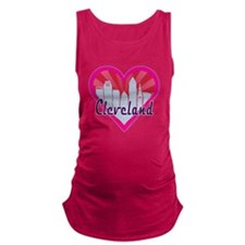 Cleveland Skyline Sunburst Heart Maternity Tank To