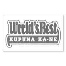 WB Grandpa [Hawaiian] Rectangle Decal