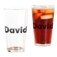 David Metal Drinking Glass