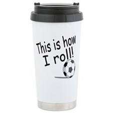 Unique Girl's soccer Travel Mug