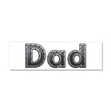 Dad Metal 10x3 Car Magnet