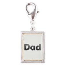 Dad Metal Silver Portrait Charm