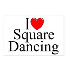"""I Love (Heart) Square Dancing"" Postcards (Package"