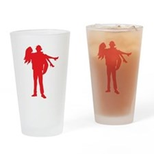 Fireman's Wife-RED Drinking Glass