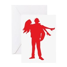Fireman's Wife-RED Greeting Card