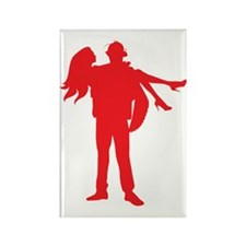 Fireman's Wife-RED Rectangle Magnet