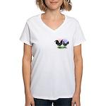 Mottle OE2 Women's V-Neck T-Shirt
