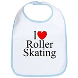"""I Love (Heart) Roller Skating"" Bib"