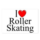 """I Love (Heart) Roller Skating"" Postcards (Package"