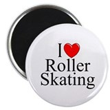 """I Love (Heart) Roller Skating"" Magnet"