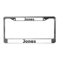 Jones Metal License Plate Frame