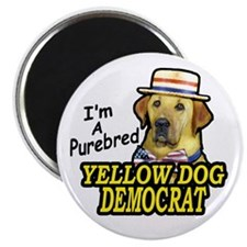 Magnet Purebred Yellow Dog Democrat