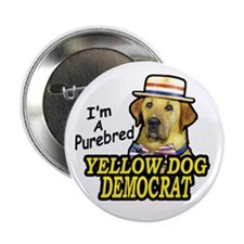 "2.25"" Button (10 pack) Purebred Yellow Dog Dem"
