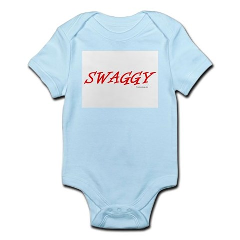 Swaggy In Red Baby Body Suit Infant Bodysuit