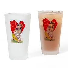 RetroValentine Senorita Drinking Glass