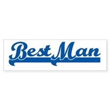 Sporty Best Man Bumper Bumper Sticker