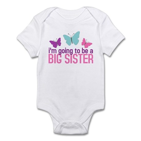 butterfly big sister to be Infant Bodysuit
