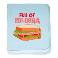 Full Of Bologna baby blanket